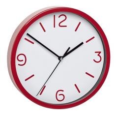 Стенен часовник TFA Dostmann - Ø20 см, пластмаса, стъклен капак