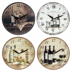Часовник - Ø28 см, различни мотиви