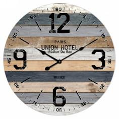 "Стенен часовник ""Класик"" - Ø58 см, MDF, сив"
