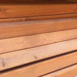 Дървен кол за ограда кафяв - 9x9x110 см