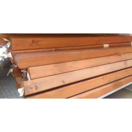 Дървен кол за ограда кафяв -190 см