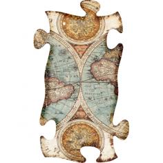 Imagén: Картина - 30х54,5 см, MDF, карта на света
