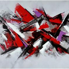 Imagén: Картина - 35х35 см, авангард с маслени бои