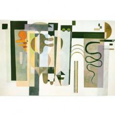 Imagén: Картина шагрен Due punti verde - Wassily Kandinsky - 18x26 см