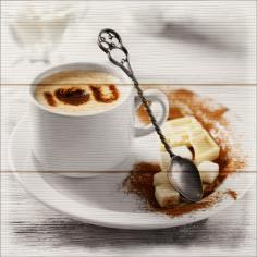 Imagén: Картина ProArt Утринно кафе - 30х30 см, дигитален печат върху дърво