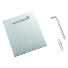 Пластина за закрепване на огледало Form - ШхВ 10х8 см, метал, сива
