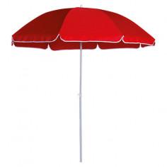 Плажен чадър Ø200 см, червен