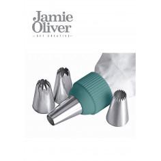 Сладкарски шприц с 5 бр. накрайници - цвят атлантическо зелено