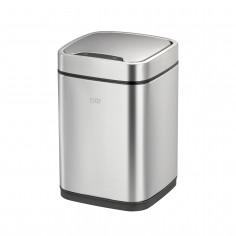 """Сензорен кош за отпадъци """"ECOSMART"""" с метален капак - 6 литра - мат"""