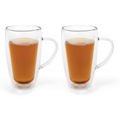 Комплект от 2 бр двустенни стъклени чаши - 295 мл