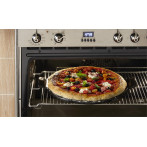 """Керамична плоча за пица """"SMOOTH PIZZA STONE"""" - Ø 36,5 см - цвят черен"""