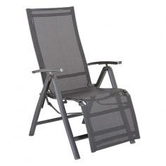 Imagén: Градинско кресло - 68.5x61x111 см, сгъвамо, антрацит