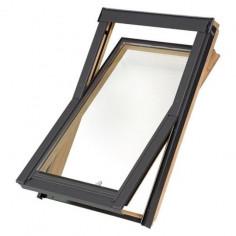 Imagén: Покривен прозорец Solid Basic - 78x98 см, дървен
