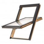 Покривен прозорец Solid Basic - 78x118 см, дървен