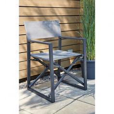 Imagén: Градински стол - 53x55x85 см, антрацит