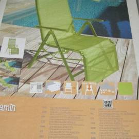 Релаксиращ стол - за градина, зелен