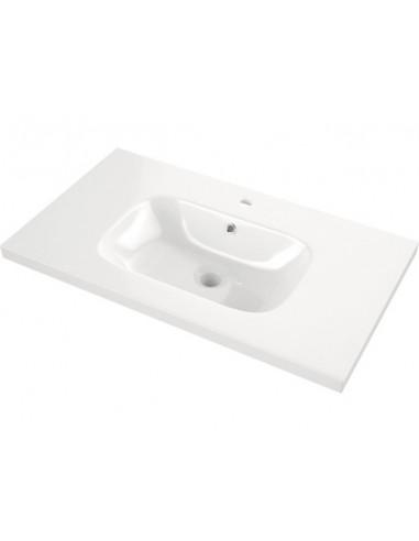 Керамичен умивалник Palma - ДхШ 46х81 см, бял