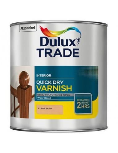 Лак бързосъхнещ Dulux - Безцветен, сатен