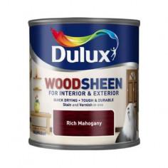 Лак Dulux Woodsheen, тъмен махагон, 250 мл