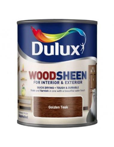 Лак Dulux Woodsheen, златен тик, 750 мл
