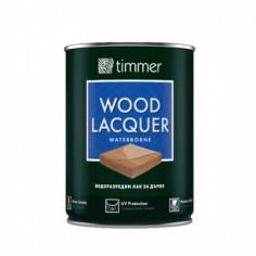 Лак за дърво Timmer Lacquer, водоразредим, сатен, 750 мл