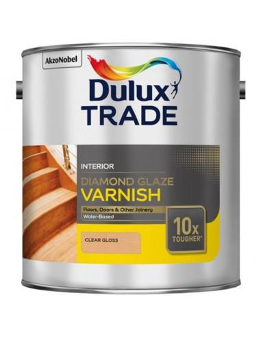 Диамантен лак за подове Dulux, безцветен гланц