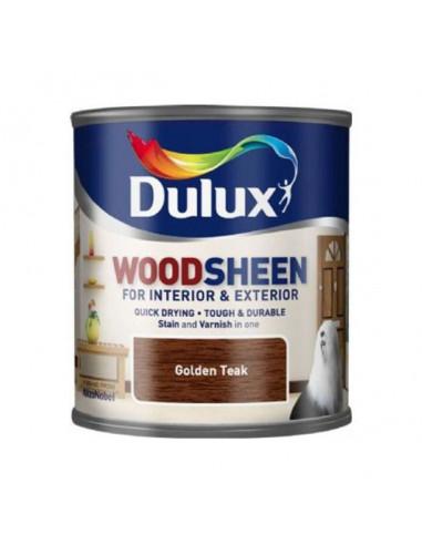 Лак Dulux Woodsheen, златен тик, 250 мл