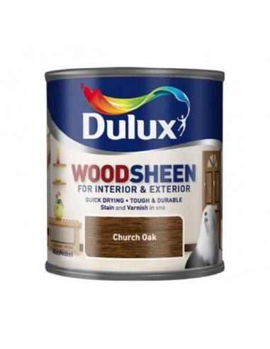 Лак Dulux Woodsheen, църковен дъб, 250 мл