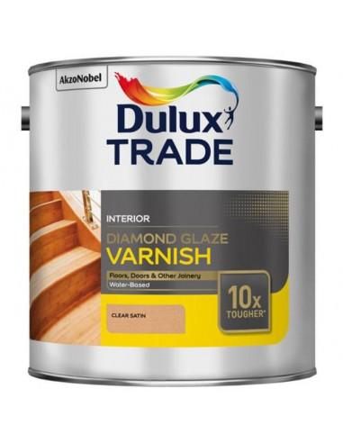 Диамантен лак за подове Dulux, безцветен сатен