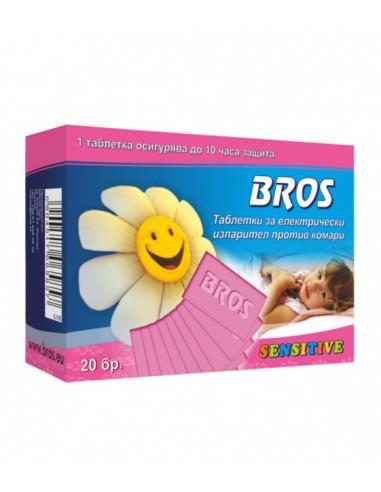 Таблетки за детски електрически изпарител против комари Bros - 20 броя