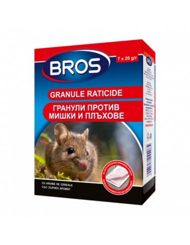 Отрова за мишки и плъхове БРОС - 140 г, гранули