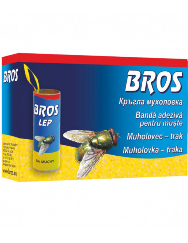 Ролка против летящи насекоми Bros - 4 броя