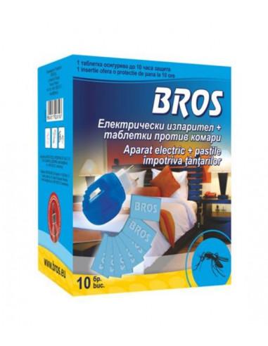 Електрически изпарител против комари Bros - 10 таблетки
