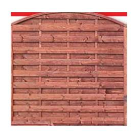 Дървена ограда - кафява - 160 x 180 x 180 см