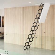 Топлоизолирана метална таванска стълба LUSSO ZP - 120 X 70 см, h-3.2м