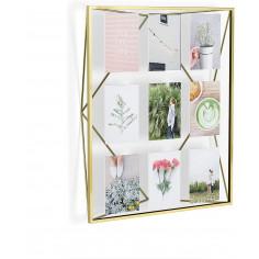 """Рамка за снимки """"PRISMA GALLERY """" - цвят месинг - за 9 снимки - UMBRA"""
