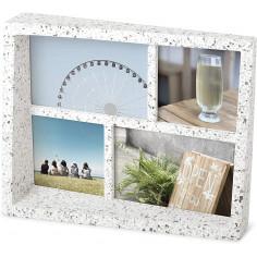 """Рамка за снимки """"EDGE"""" - цвят бял/сив - UMBRA"""