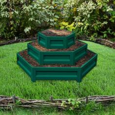 Цветарник на три нива зелен