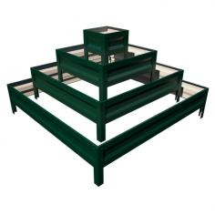 Imagén: Цветарник - квадратна пирамида зелена