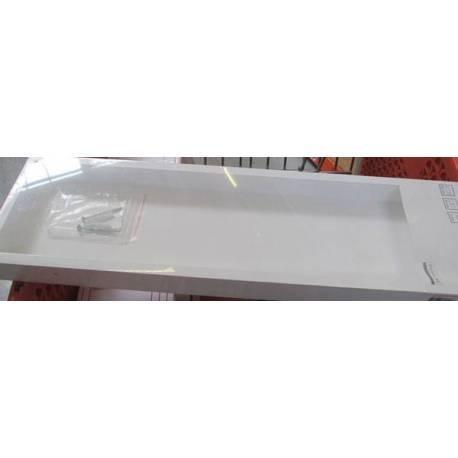 Рафт за стена - бял - 60x15x4 см