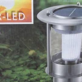 Соларeн фенер 2 LED, 30 см, студено-бяла светлина