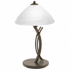 Настолна лампа - 1хЕ27, кафява, бяла