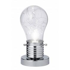 Настолна солна - 1хЕ14, 23 см, хром, стъкло