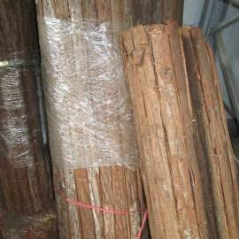Декоративна оградна мрежа - кора от дърво, 90x300 см