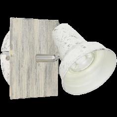 Спот Filipina 1 95642 - 3,3 W, 1xGU10, винтидж, антично бял