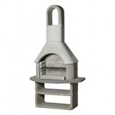 Imagén: Градинско барбекю с грил 110х65х206 см, сиво