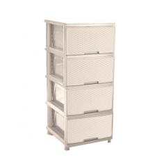 Imagén: Шкаф PVC - 39,5х46,5х95,5 см, четири чекмеджета, три цвята
