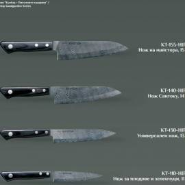 Кухненски нож - универсален, черно острие-KYOTOP-11 см