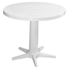 Пластмасова маса, бяла, Ø75...