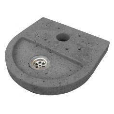 Корито за алуминиева градинска чешма - 37х6 см, сиво, овално